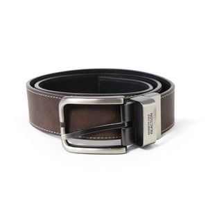 Kenneth Cole men's bonded leather brown steel belt